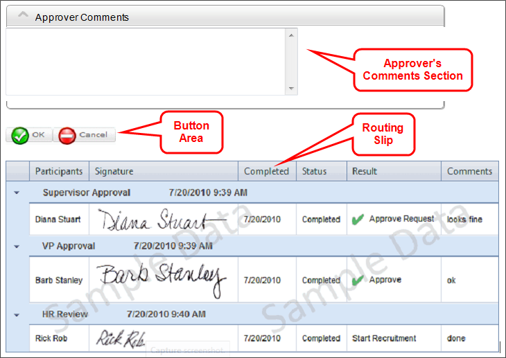 Placing A Routing Slip Inside Section Control Is Optional But The Should Be Placed Below Form Buttons