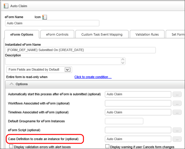 Implementing a Case Management Application