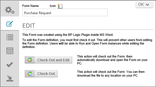 the microsoft word form builder