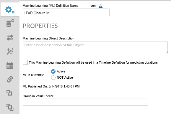 Machine Learning (ML) Definition