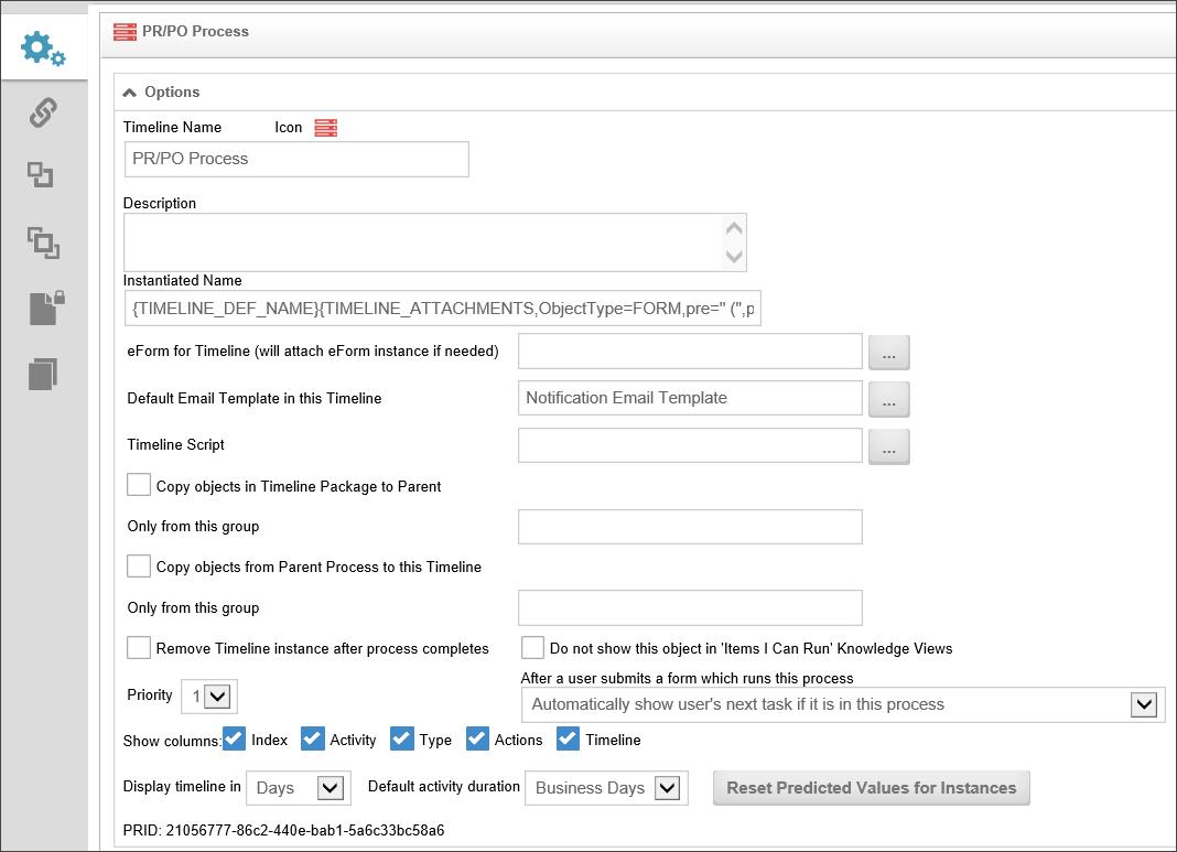 Process Timeline Definitions - Process timeline template